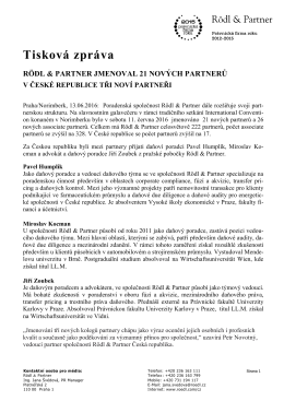 Pressemitteilung Rödl & Partner, 16.12.2012