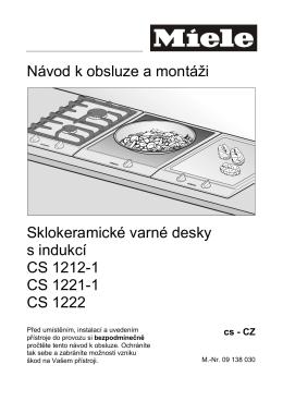 Návod k obsluze a montáži Sklokeramické varné desky s indukcí CS