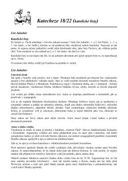 18_22 Katolické listy a list Jakubův
