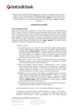 Usnesení VH z 1.6.2016 a závěry znaleckého