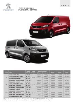 Ceník - Peugeot Expert