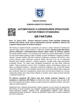 qr faktura - Komora daňových poradců ČR