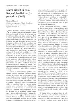 Marek Jakoubek et al. – Krajané: hledání nových