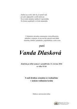 Vanda Dlasková