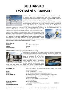 bulharsko lyžování v bansku - Hu