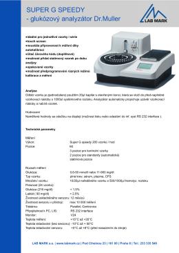 SUPER G SPEEDY glukózový analyzátor Dr.Muller