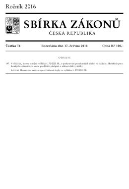 Vyhláška, kterou se mění vyhláška č. 72/2005