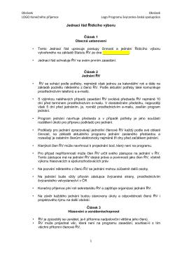 Jednací řád Řídícího výboru