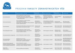 program fakulty zdravotnických věd