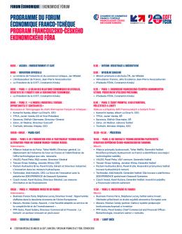 programme du forum économique franco