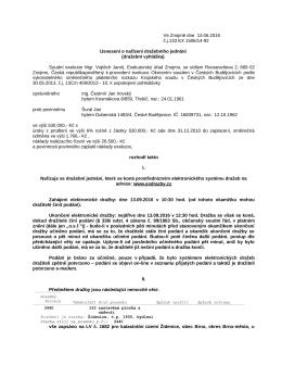 Soudní - Úřední deska