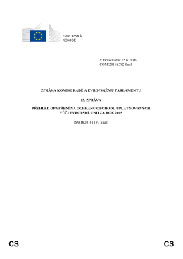 EVROPSKÁ KOMISE V Bruselu dne 15.6.2016 COM