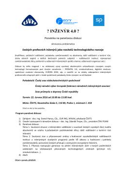 inženýr 4.0 - Český svaz vědeckotechnických společností
