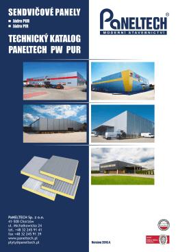 střešní sendvičové panely typu paneltech pw pur-d a pw pir-d