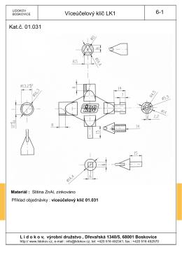 Víceúčelový klíč LK1 6-1 Kat.č. 01.031