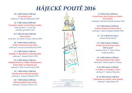 hájecké poutě 2016 - Františkánský klášter v Hájku