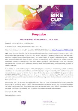 Propozice - BIKE CUP