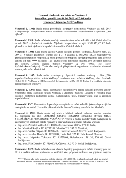 Usnesení RM 06.06.2016