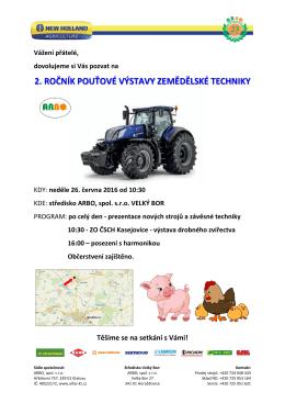 2. ročník pouťové výstavy zemědělské techniky