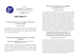verze pro oboustranný tisk - PANM 18, Programy a algoritmy