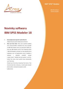 Novinky softwaru IBM SPSS Modeler 18