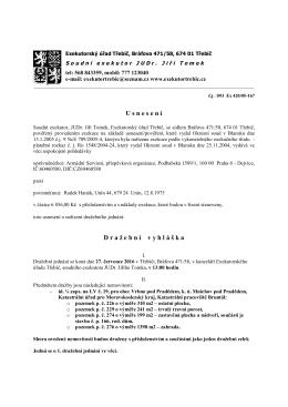 Exekutorský úřad Třebíč - Dražební vyhláška