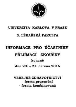 Harmonogramy 2016 - Univerzita Karlova v Praze