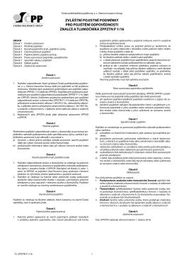 zvláštní pojistné podmínky pro pojištění odpovědnosti znalce a