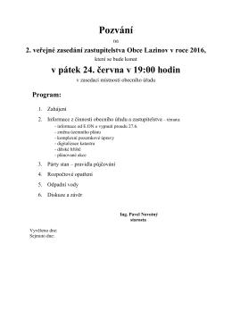 Program - LAZINOV