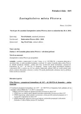Změna č. 10 Územního plánu města Přerova