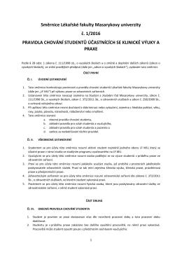 Směrnice děkana č. 1/2015