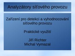 07 Analyzátory síťového provozu v praxi