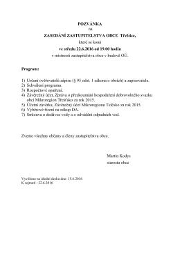 Pozvánka na ZO 6/2016