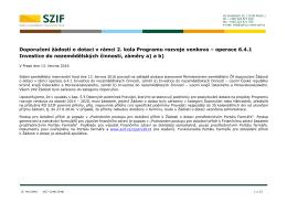Doporučení žádostí o dotaci v rámci 2. kola Programu rozvoje venkova