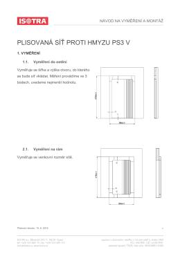 Návod na vyměření a montáž PS3 V