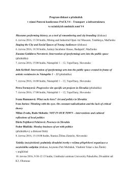 Program diskusí a přednášek