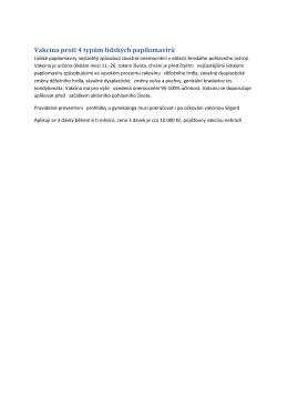 Vakcina proti 4 typům lidských papilomavirů
