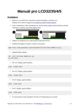 Manuál pro LCD32/35/4/5