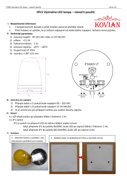 HFL5 Výstražná LED lampa – návod k použití