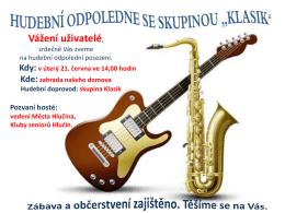Pozvánka na hudební odpoledne Klasik