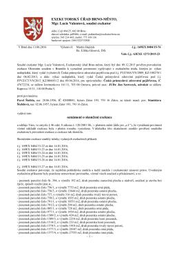 Exekutorský úřad Brno-město