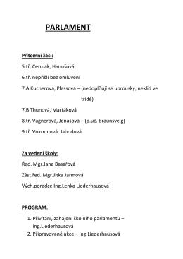 Zápis ze 6. schůzky