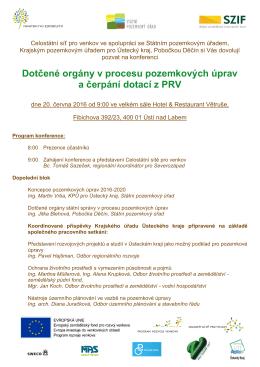 Dotčené orgány v procesu pozemkových úprav a čerpání dotací z PRV