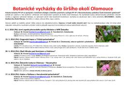Botanické vycházky do širšího okolí Olomouce