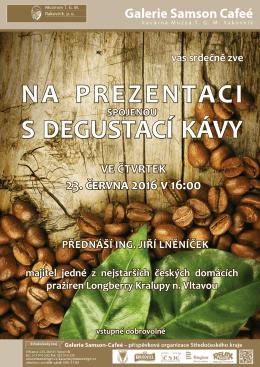 Prezentace spojená s degustací kávy