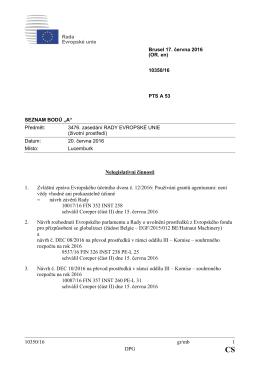 10350/16 gr/mb 1 DPG Nelegislativní činnosti 1. Zvláštní zpráva