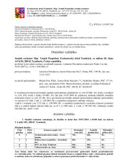 070 Ex 1119/07 - Exekutorský úřad Nymburk