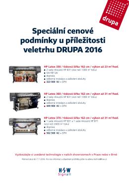 Speciální cenové podmínky u příležitosti veletrhu DRUPA 2016