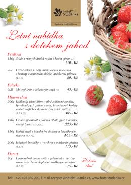 Letní nabídka s dotekem jahod