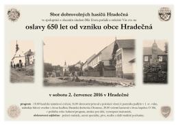 oslava 650 let Hradečná